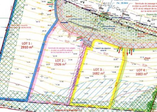 Terrains Halsou de 1682m² à 2910m²
